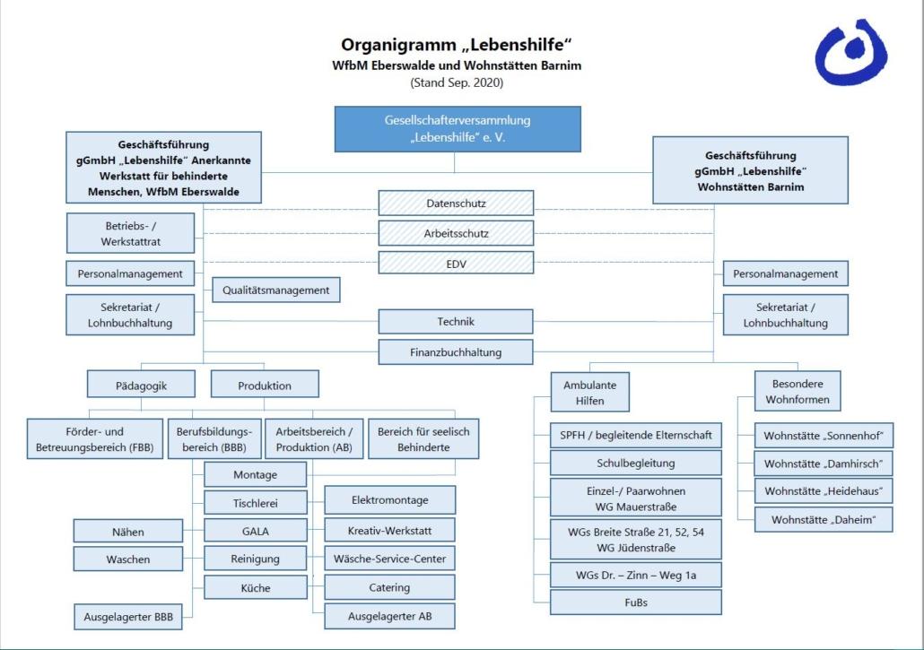Darstellung der Organisationsstruktur der Lebenshilfe Kreisvereinigung Barnim e. V.