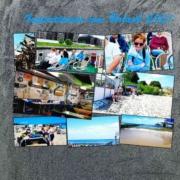 Eine Collage aus insgesamt acht Fotos, die sich teilweise überlappen. Unter anderem mit Bildern vom Strand und von der Schifffahrt.